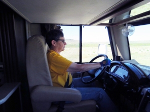 Lisa at the wheel