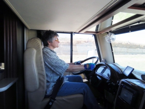 Connie at the helm