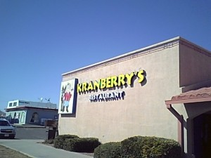 Kranberry's Restaurant 1405 Main St.  Lordsburg, NM Exit 82 off of I-10