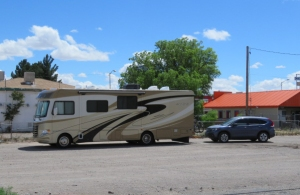 RV parking at Rancher's Grill