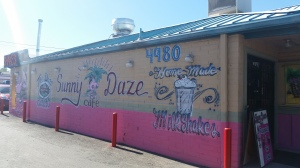 Sunny Daze Cafe on the corner of S Campbell Ave and E Irvington Rd